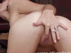 Sexy Zoey Kush masturbates with a vibrator