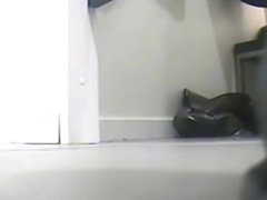 I voyeured chick that stayed in tiny thong on spy cam