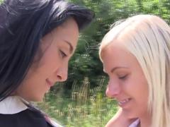 Exotic pornstars Ana Rose and Vanessa Staylon in fabulous masturbation, blowjob adult movie