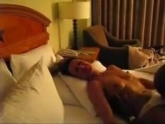 Horny woman has a pretty intense orgasm.