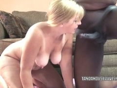 Mature swinger Liisa gets fucked with a big black cock