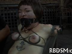 Prodding beauty's tight butt hole