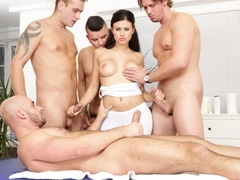 Billie Star, Neeo, Thomas Lee, Ricky Silverado in 4 on 1 Gang Bangs #05, Scene #01