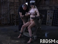 Demeaning a chained beauty