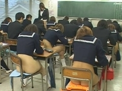 Public sex with hot Asian schoolgirls during an exam