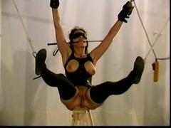 Buxom brunette hottie has a kinky BDSM fun