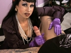 smokin' CFNM fetish mother I'd like to fuck in nylons jerking off