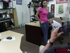 Horny Chick gets nailed by owner for behaving badly at his pawnshop