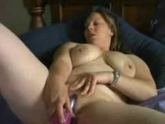 Fat Chubby girl GF loves masturbating on her bed