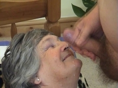 75 years old Greedy Grandma Libby trio