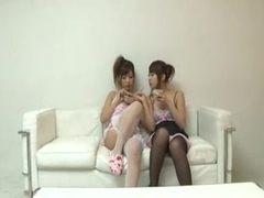 2 Japanese nubiles acquire turned into sex dolls