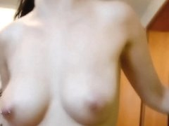 Humping a hot babe with huge bosoms