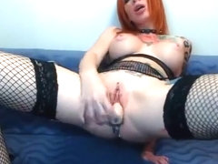Redhead bitch Missfetish fucked her vagina