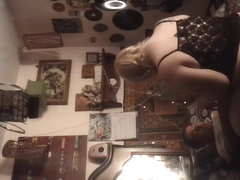 Amateur voyeur video with hot gal in sexy panties