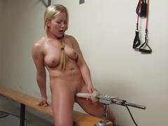 Exotic fetish, blonde xxx movie with amazing pornstar Dia Zerva from Fuckingmachines