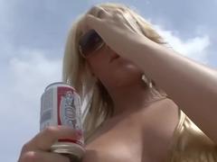 Crazy pornstar in exotic blonde, striptease porn video