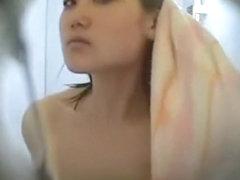 Beautiful Asian teen shower