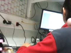 FLASHING BIG DICK AT WORK. MY COWORKER