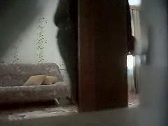 Voyeur camera catches friends' sex
