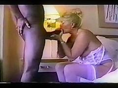 wifey drains his ebon balls
