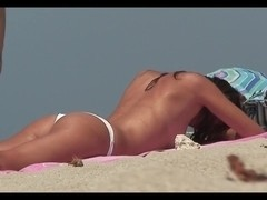 Compilation with topless amateur gals on the beach