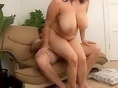 Busty MILF Kitty Lee Sucks and Fucks