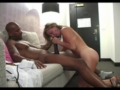 Interracial Large Darksome Dong Fuck Golden-Haired Angels Creampie