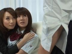 Delicious Japanese babes in orgasmic lez group fun