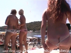 hot girls earning beads by flashing tits and pussy