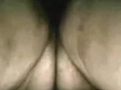 2 large natural boobies of a plump older cougar on web camera