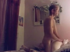 Sextape in the girl's bedroom. i creampied the wife's pussy.