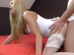 Amateur oral sex vid with me fucked in doggy position