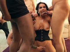 Best pornstars Veronica Avluv, Mia Malkova, James Deen in Horny MILF, Blowjob porn clip