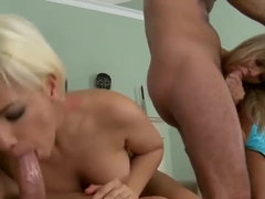 Foursome fuck featuring sexy James Brossman
