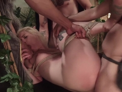Midsummer Night's Cream: Ella Nova Double Anal/Double Vag and Fisting!