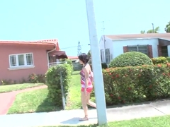 Petite latina Ripley Scott gets filmed on street