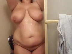 I record myself taking a warm shower in the early morning