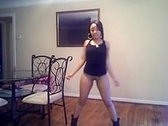 light skinned ebon legal age teenager a-hole poppin' on web camera