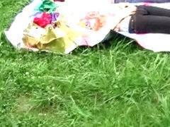 Lovely Japanese broads fully exposed while having rest