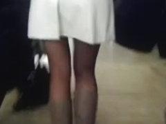 Sexy legs im metro 3 Sexy Beine in der U-Bahn 3