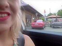 Lena-Loch - Fastfood Drive Spermafahrt! 100 krank