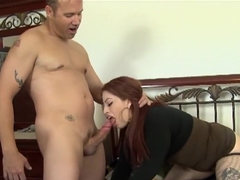 Fabulous pornstars Ruby Flame and Mae Victoria in crazy blowjob, bbw sex scene