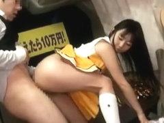 Exotic Japanese chick Tsubomi in Horny Cheerleaders JAV movie