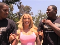 Huge boobs whore Capri Cavanni banged by big black cocks