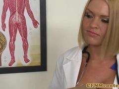 CFNM nurses sucking bbc before facial