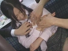 Schoolgirl groupfucked in a crowded bus