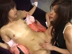 Asian lesbians in perverted games