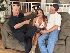 Sexy babe gets her wazoo team-fucked
