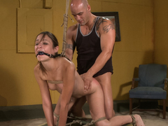 Horny anal, fetish porn scene with incredible pornstars Amber Rayne and Derrick Pierce from Dungeonsex