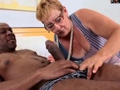 SHAGGY GRANNY IN GLASSES ACQUIRES BBC